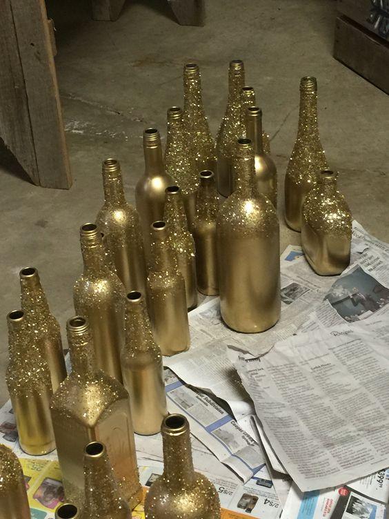 botellas para centro de mesa