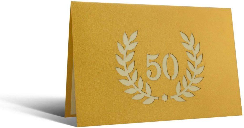comprar tarjeta bodas de oro