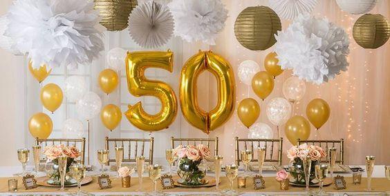 decoracion de bodas de oro