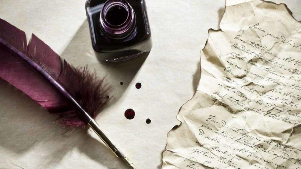 escribiendo poema de bodas de oro