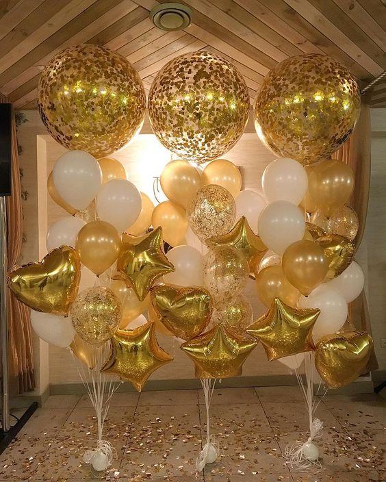 globos para bodas de oro