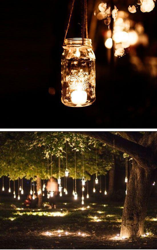 idea de luces para bodas de oro