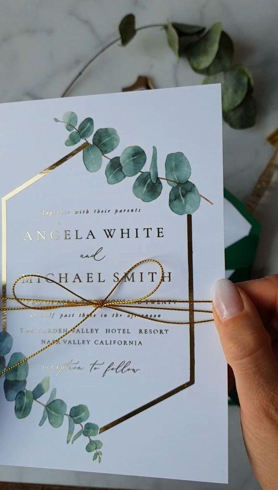 invitacion sencilla de bodas de oro