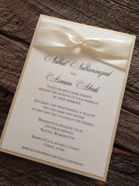 invitacion para boda de oro sencilla