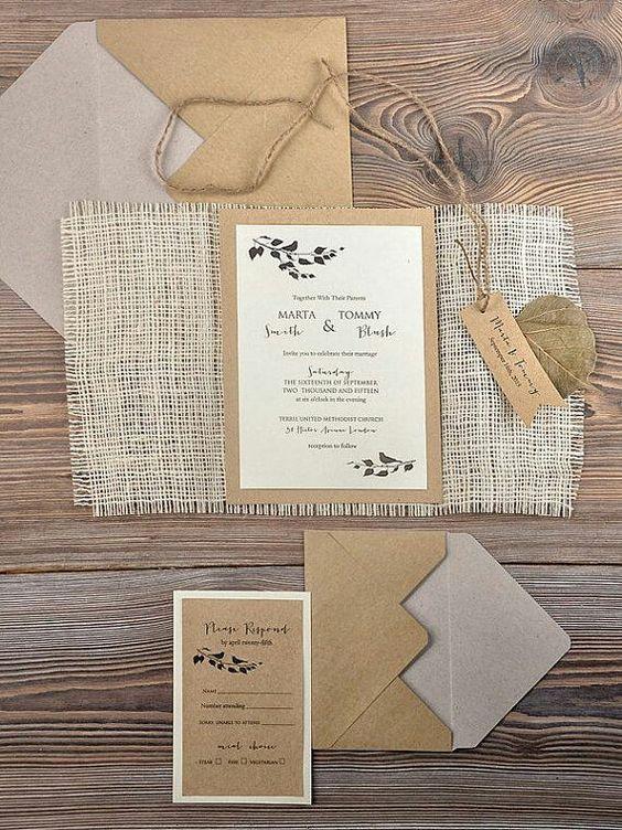 invitacion sencilla para boda