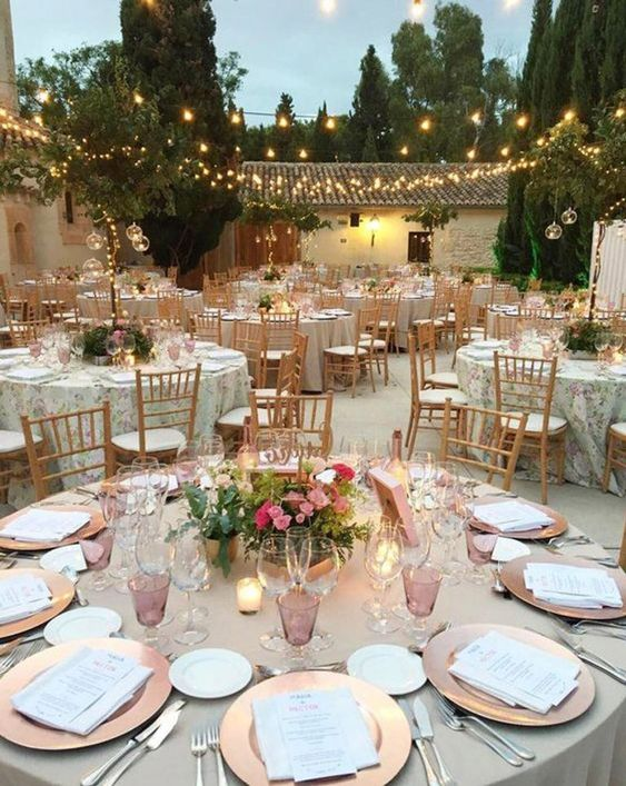 luces en boda de oro