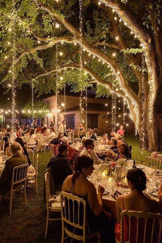 luces para boda de oro