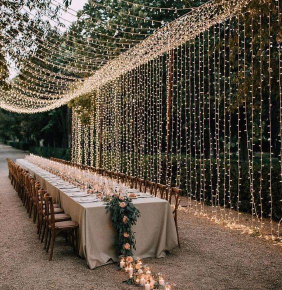 luces y decoracion en bodas de oro