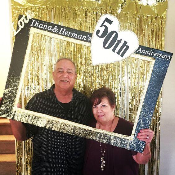 photocall para una boda de oro