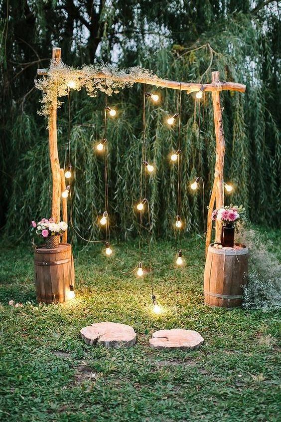 photocall sencillo para boda de oro