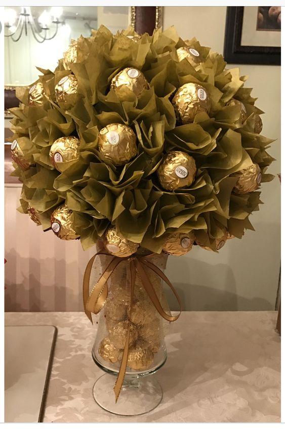 regalo con chocolates para bodas de oro