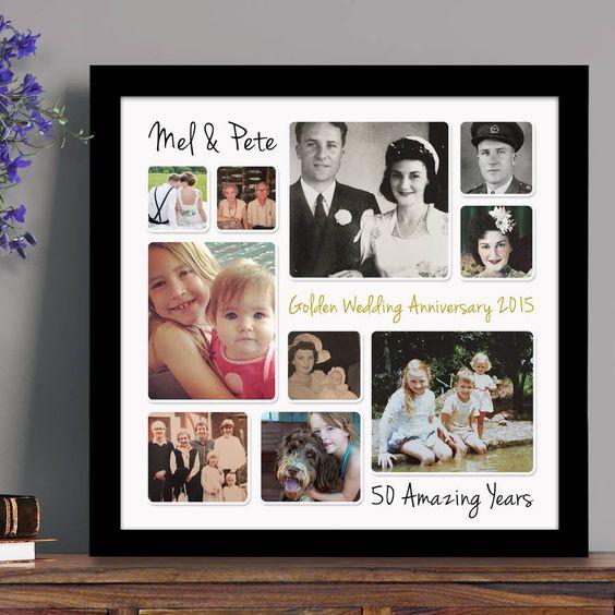 regalo con fotos bodas de oro
