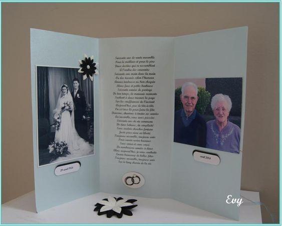 tarjeta con fotos bodas de oro