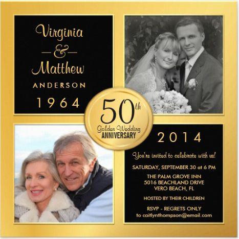 tarjeta de invitacion de bodas de oro