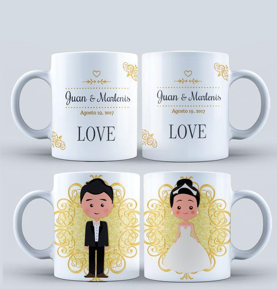 tazas personalizadas para bodas de oro