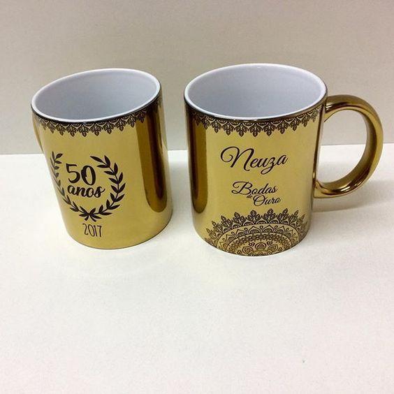 tazas personalizadas bodas de oro